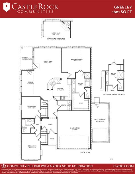 castle rock floor plans greeley silver home plan by castlerock communities in lago mar