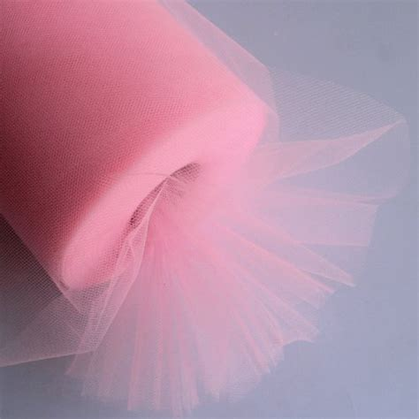 L48 Light Pink Import ourwarm 6 inch x 100 yards 300ft tulle roll spool light pink import it all