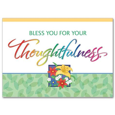 thank you letter to religion bless you for your thoughtfulness thank you card