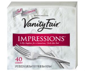vanity fair napkins at winn dixie for 0 65 with coupons