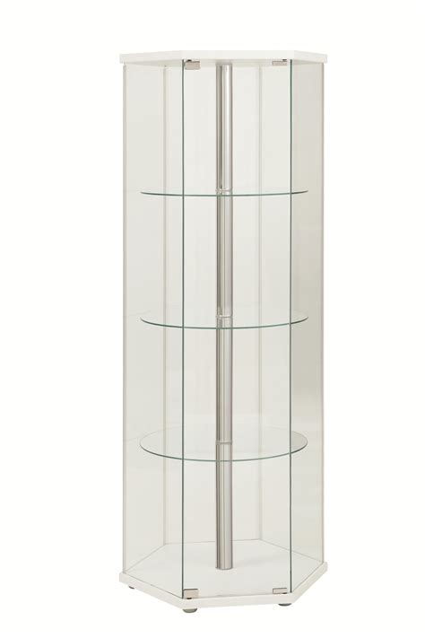 white curio cabinet glass doors coaster furniture white glass doors curio cabinet the