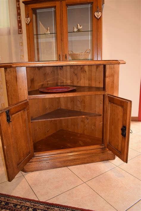 mobili porta televisione mobile artigianale angolare in legno porta televisione