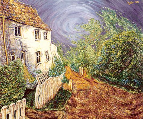 Windy Cottage by B W Artwork Windy Cottage Original Painting