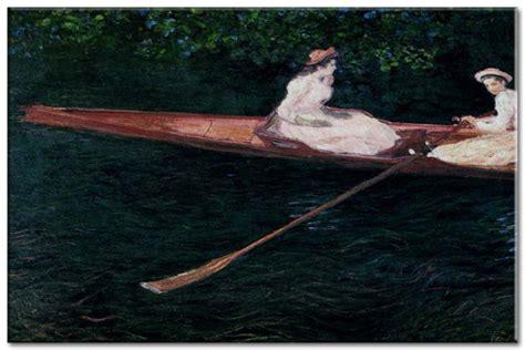 boating on the river epte boating on the river epte obraz monet zs10334 claude