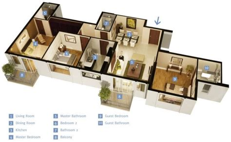 single floor 3 bhk house plans 3 bedroom apartment house plans