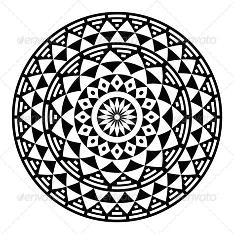 pattern art circle tribal aztec geometric pattern or print in circle vector