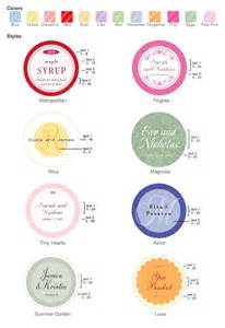 Favor Labels by Custom Circle Labels Personalized Wedding Labels