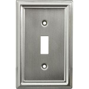 Faux Brushed Nickel Paint - ge 1 toggle steel switch wall plate faux brushed nickel 40307 the home depot