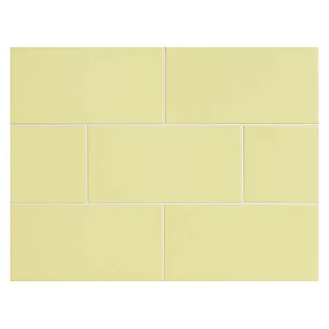 vermeere ceramic tile yellow matte 3 quot x 6 quot subway tile