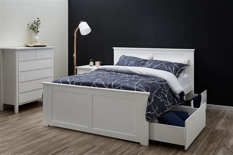 White Bed Frame King Size King Size Bed Storage White Modern B2c Furniture