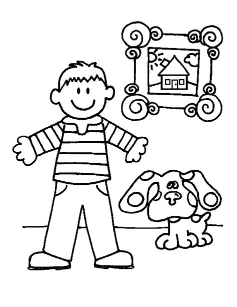 Blue S Clues Coloring Page Coloring Pages For Kids Boy Blue Coloring Page