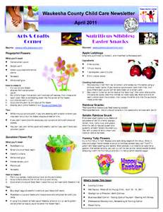 daycare newsletter templates childcare newsletter exles