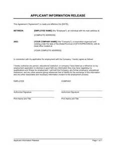 Information Release Form Template by Information Release Authorization Template Sle Form