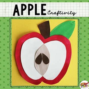 apple craftivity template  keeping life creative tpt
