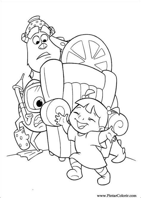 Dibujos Para Pintar Y Color Monsters Inc Dise 241 O De Inc Dibujos A Color