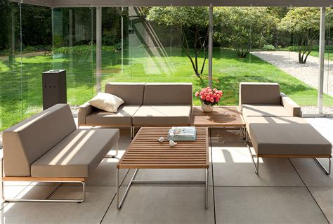 180 s garden lounge element baro edelstahl fsc teak