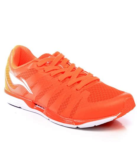li ning orange sport shoes