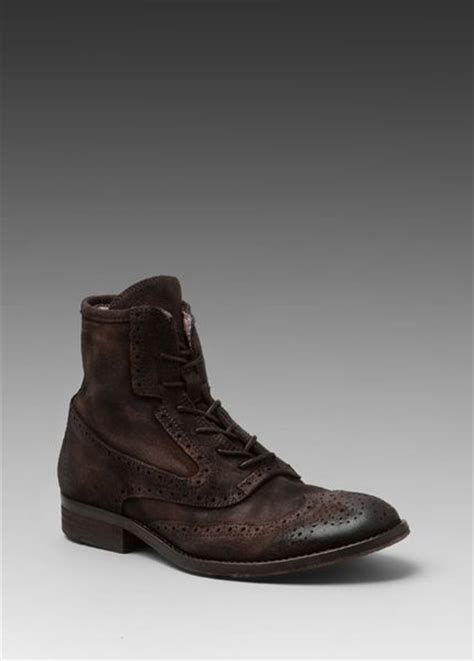 rogue boots mens rogue platon boots in brown for chocolate lyst