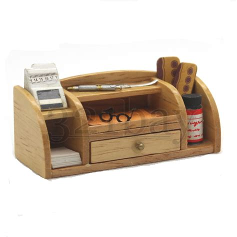 office desk pen holder miniature desk 1 12 wooden office supplies office set pen