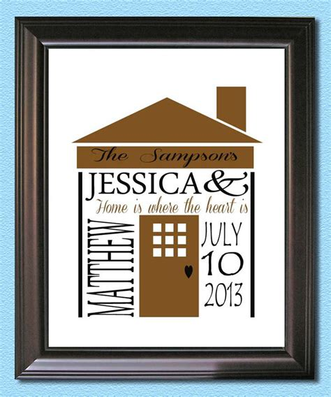 unique housewarming gifts personalized housewarming new home gift print by acustomdesign