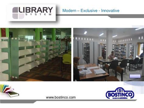 Rak Buku Perpustakaan Bostinco rak perpustakaan baja modern bostinco