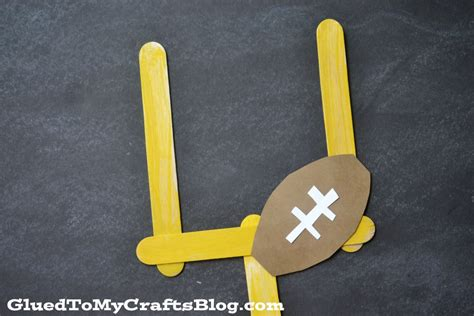football crafts for mini football goal kid craft