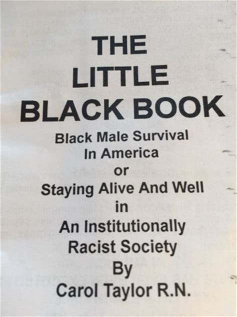 the little black book book review of the little black book black male survival in america staying alive well in an