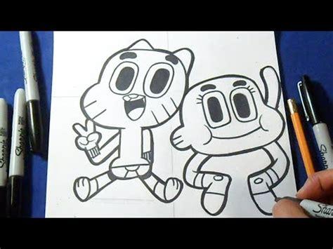 imagenes de la familia de gumball c 243 mo dibujar a gumball y darwin quot increible mundo de