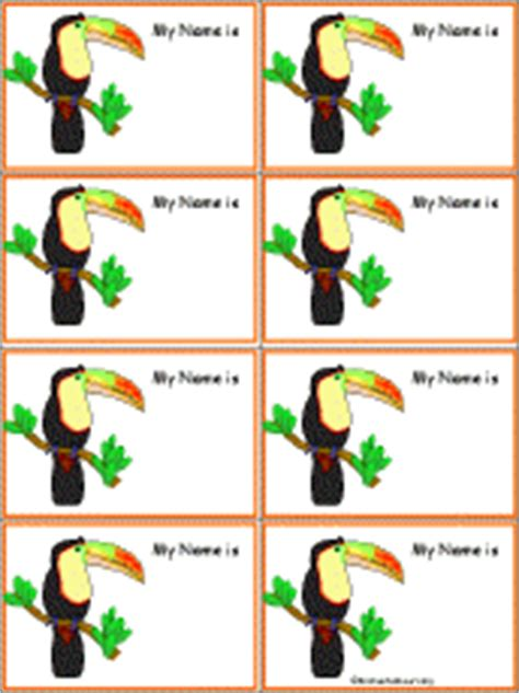 penguin nametags to print in color enchantedlearning com name tags birds at enchantedlearning com
