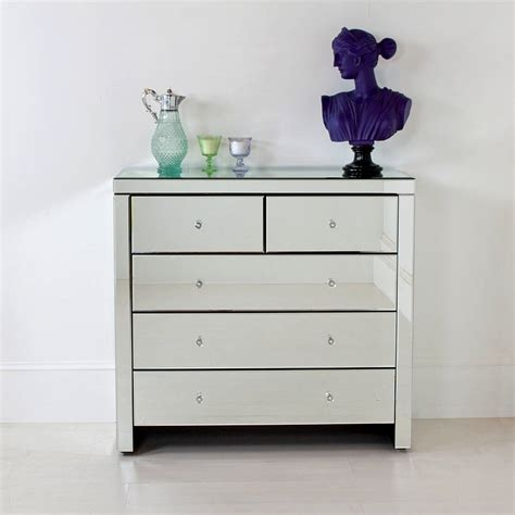 Mirrored Chest Of Drawers by Large Mirrored Chest Of Drawers By Out There Interiors