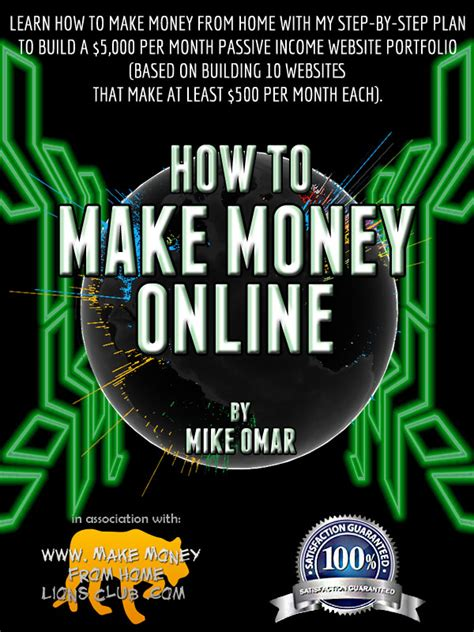 How To Make Money Online Book - make money from home lions club free online school with mike omar