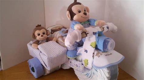 Windeltorte Motorrad Mit Beiwagen Anleitung by Diaper Cake Monkey On Motorcycle With Baby Monkey In