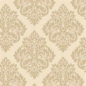 Wall Stickers Next Day Delivery decorline sparkle damask wallpaper cream gold dl40213