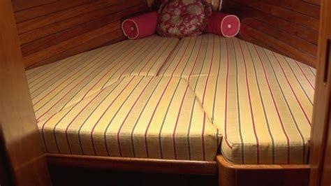 boat bed cushions how to make v berth cushions youtube