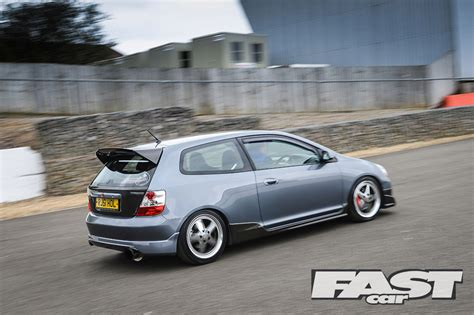 grey honda civic modified honda civic ep3 type r fast car