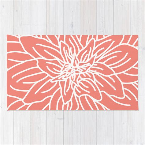 coral accent rug coral abstract flower area rug modern flower rug coral and