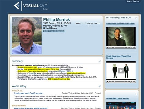 visualcv thinks it s time to update that resume techcrunch