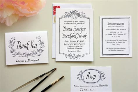 Make Your Own Wedding Invitations by How To Diy Wedding Invitations