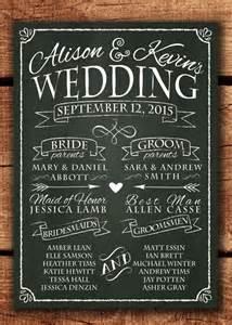 chalkboard program wedding chalkboard wedding program sign printable wedding program