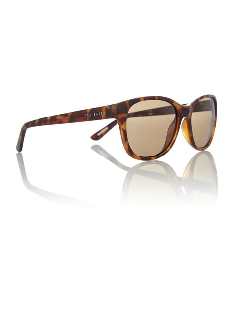 Ted Square Brown ted baker tb1313 square sunglasses in brown lyst