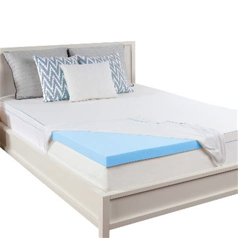 sealy 2 5 quot memory foam mattress topper white target