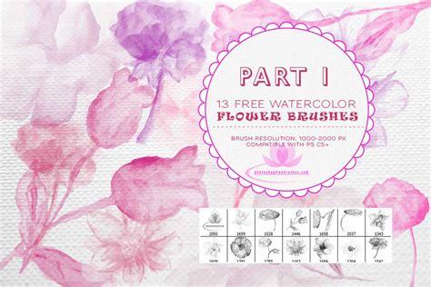 Photoshop Tutorial Watercolor Flower | 13 free watercolor flower brushs photoshop photoshop