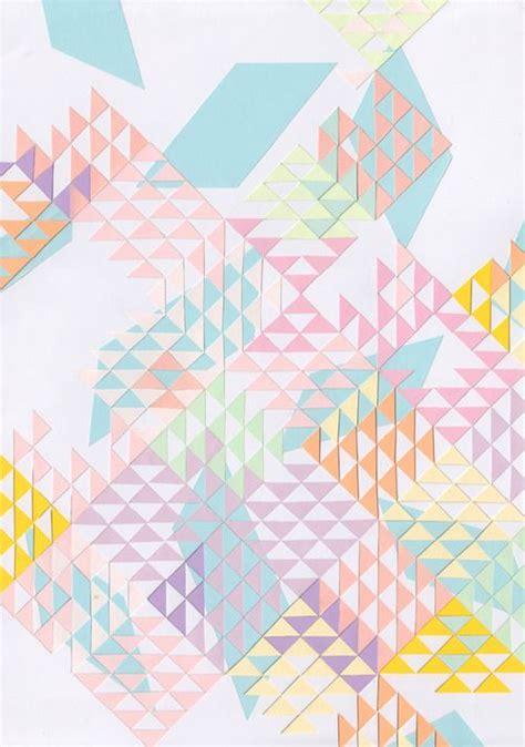 pattern pastel triangle triangles illustration art patterns pinterest