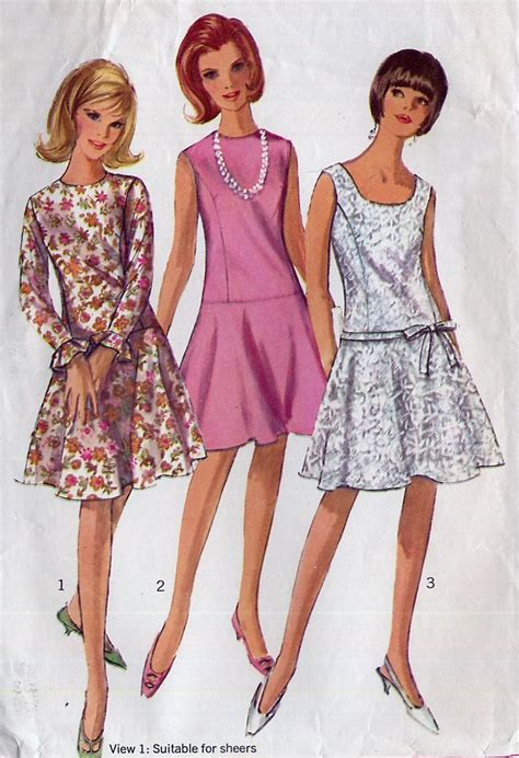 pattern review drop waist dress 1960s vintage drop waist dress pattern simplicity 6539