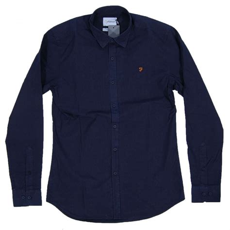 farah larch shirt true navy mens shirts from attic