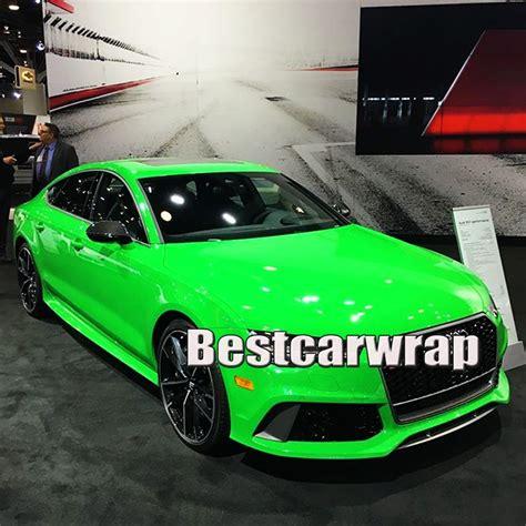 Folie Na Auto Matná černá by Gloss Fluorescent Green Car Wrap Covering Vinyls With