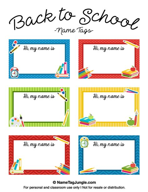 back to school card template printable back to school name tags