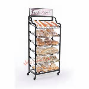 bread display rack for retail store and bakery view bread