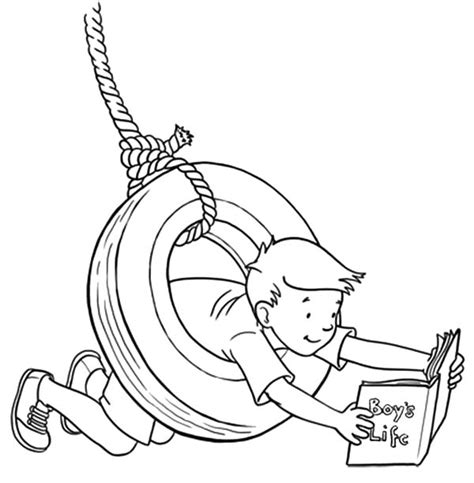 boy swings swing coloring pages www pixshark com images galleries