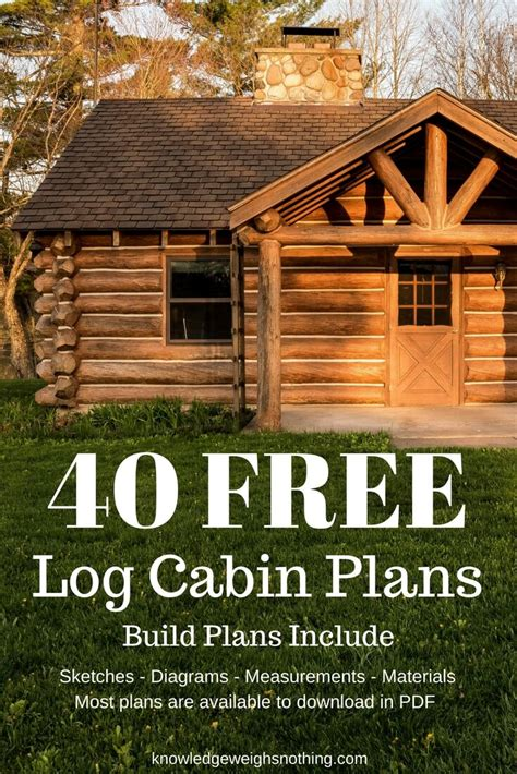 build a log cabin home log home plans 40 totally free diy log cabin floor plans